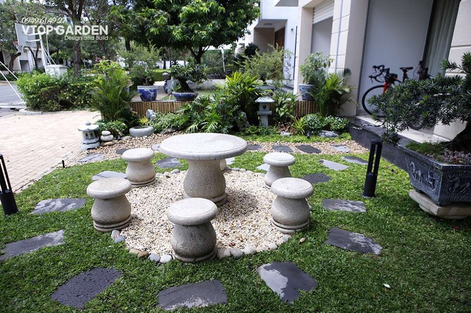 Đề sở hữu một thiết kế dành cho tiểu cảnh sân vườn đẹp, cần lựa chọn tiểu cảnh và xác định vị trí đặt tiểu cảnh phù hợp với tổng thể kiến trúc chung của ngôi nhà.