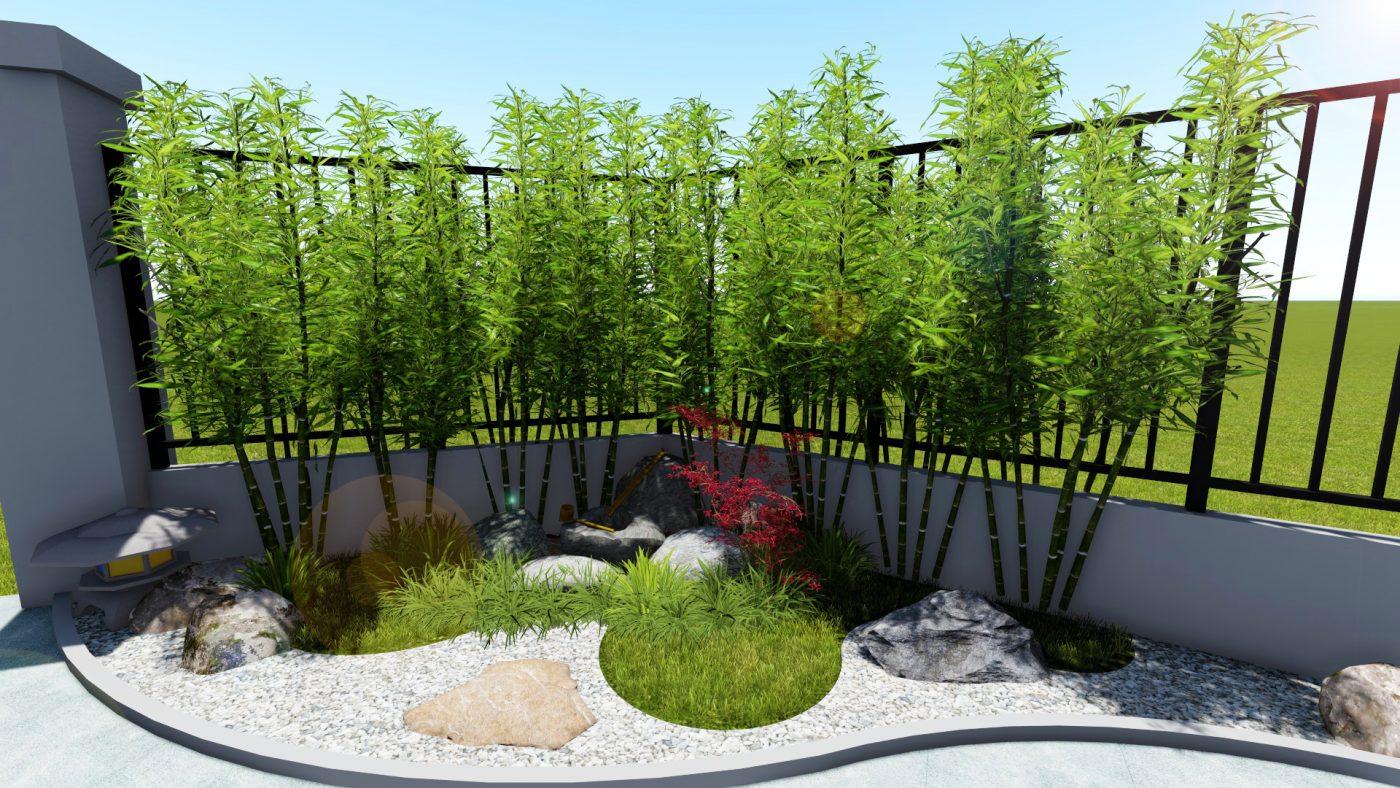 Hình ảnh mẫu tiểu cảnh sân vườn mini đẹp theo phong cách Nhật Bản