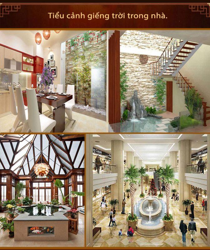 Giếng trời trong nhà là một trong những mô hình thiết kế ưu chuộng tại những căn nhà ống, nhà phố, những căn biệt thự chọc trời