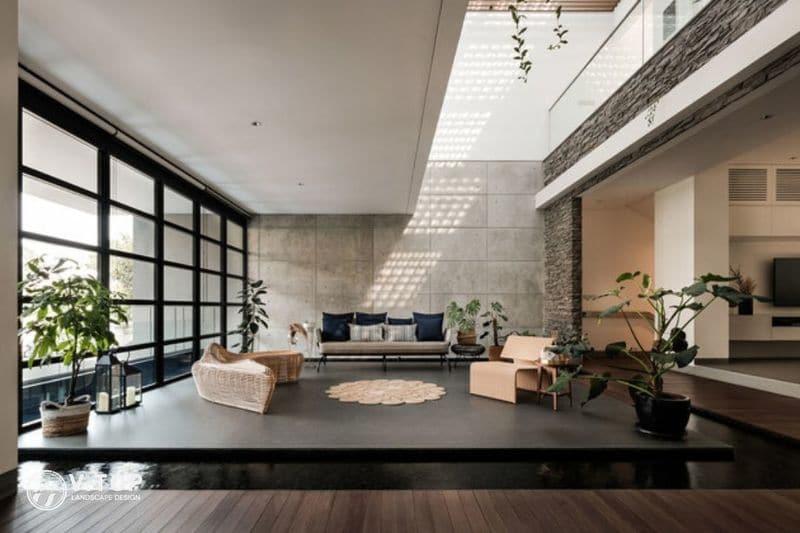 thiết kế hồ cá Koi trong nhà