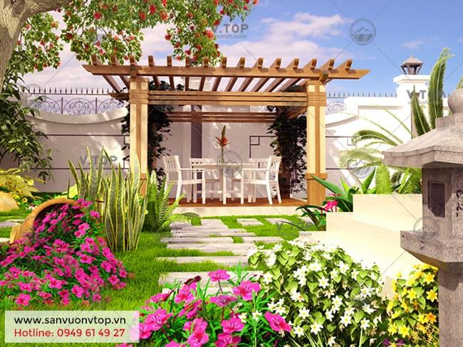 dịch vụ chăm sóc cảnh quan sân vườn