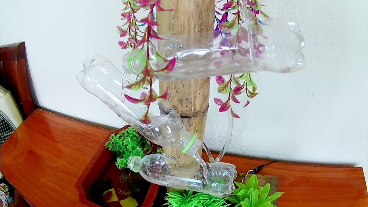 Hướng dẫn cách làm thác nước bằng chai nhựa vô cùng đơn giản tại nhà