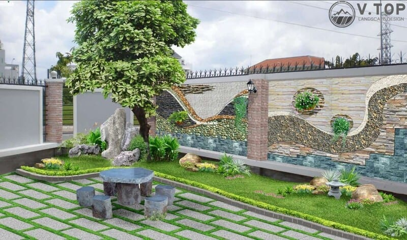 trang trí tiểu cảnh sân vườn