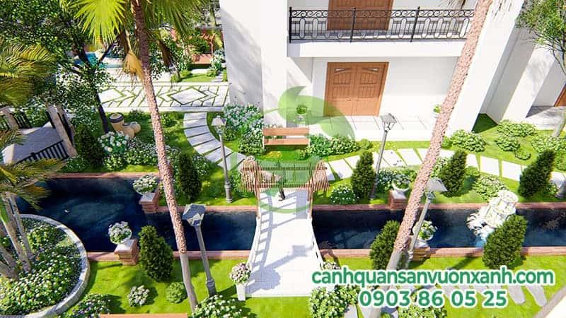 Công ty kiến trúc cảnh quan sân vườn xanh