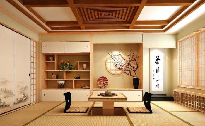 Sử dụng vật liệu thân thiện môi trường chính là nét đặc trưng trong thiết kế không gian nhà theo phong cách Nhật