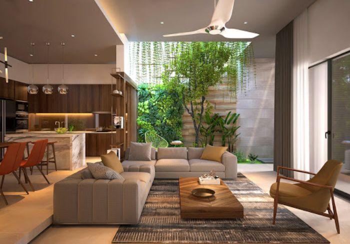 Những lưu ý khi thiết kế không gian xanh trong nhà