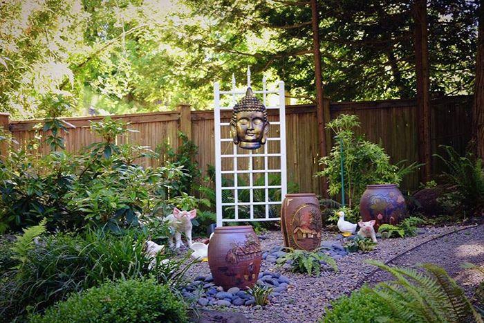Trang trí sân vườn theo phong cách phương Đông