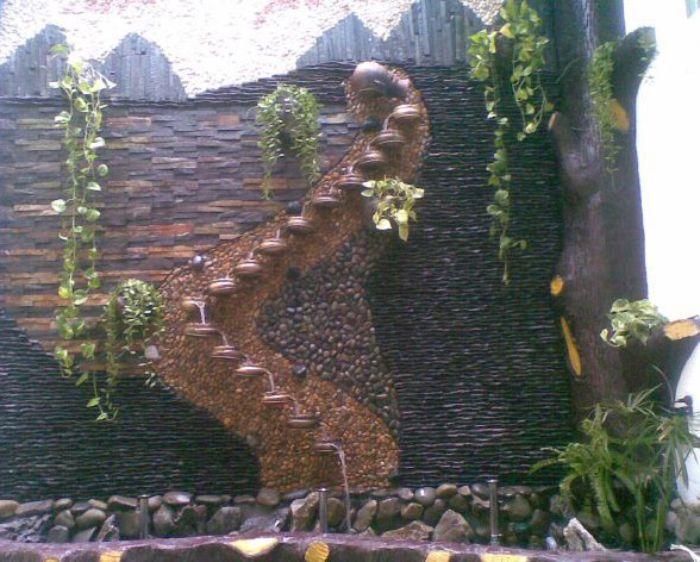 Tiểu cảnh thác nước vườn xưa